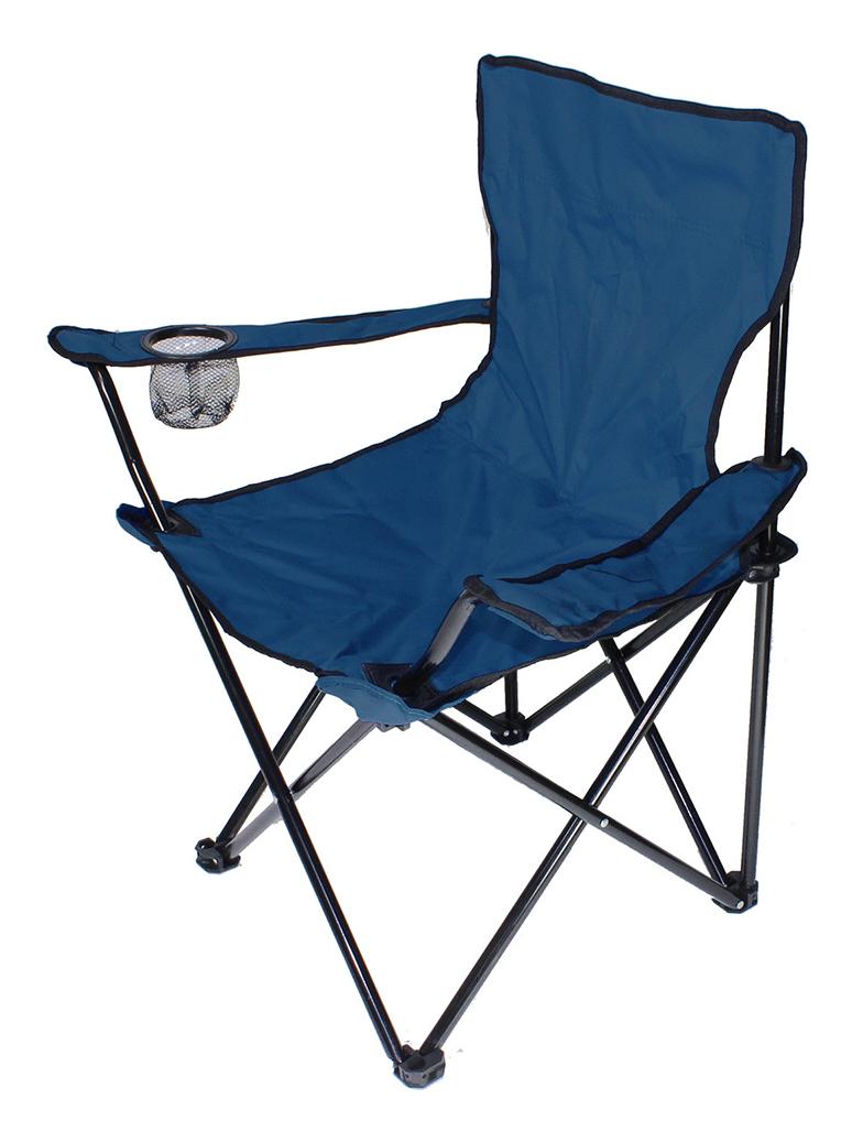 Chaise de plage Blue Chaise pliante Chaise de camping confortable léger 120kg