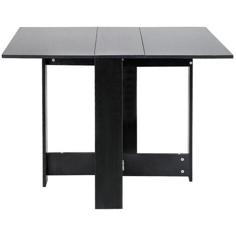 Wyctin Table Pliante Noir Style Contemporain 4 6 Personnes Pour Cuisine Salle A Manger Salon Jb94044 04