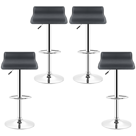 WYCTIN®Tabouret de bar lot de 4,Chaise de Bar Blanc Pivotant et réglable