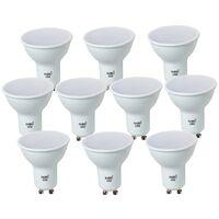 X 10 Bombilla led GU10 7w 700 lumenes sustituye halogena de mas de 50w -Disponible en varias versiones