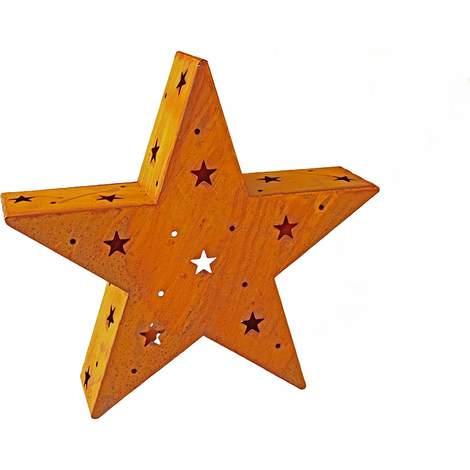 Dekorativer Edelrost STERN f Lichterkette 45 cm