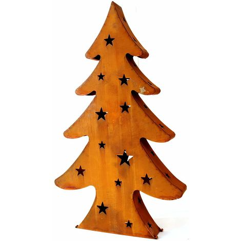 Tannenbaum Edelrost.X Mas Edelrost Weihnachtsbaum Mit 3 Teelichthalter 80cm 4057984006340
