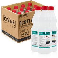 x12 Bioetanolo da 1lt combustibile ecologico naturale inodore ECOFLAME