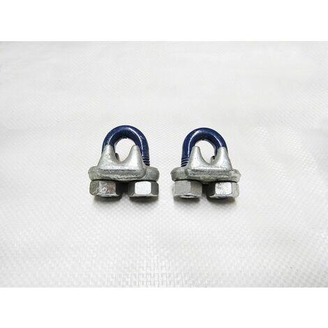"main image of ""x2, 1 1/4"" US FED Spec Wire Rope Grips - 32MM Bulldog Cip U Bolt FF-C-450"""