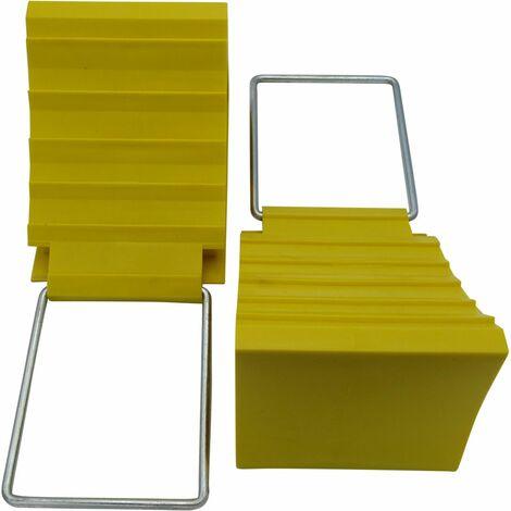 "main image of ""X2 Safety Wheel Chocks - Compact Block Wedges Motorhome Trailer Caravan"""