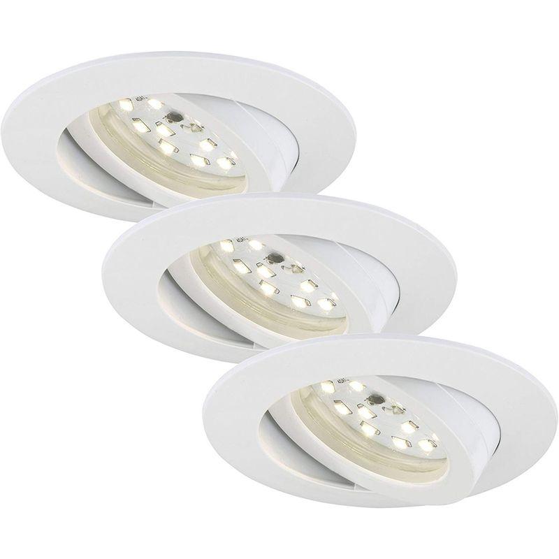 SET 3 FARETTI ORIENTABILI LED 3X5W 400LM IP23 BIANCHI - Briloner