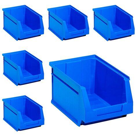 x6 Gavetas Apilables Azul. 17 X 10 X 8 Cm. 6 Unidades