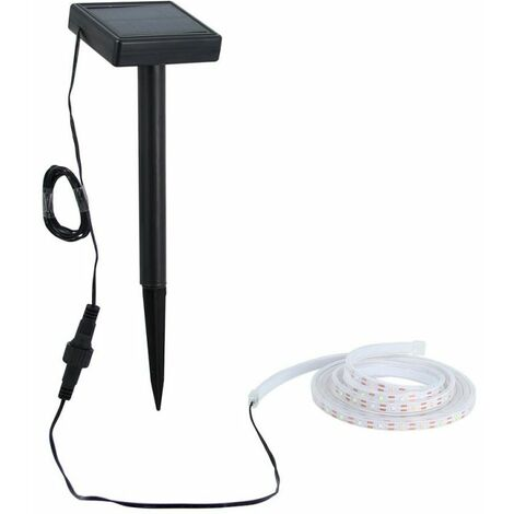 "main image of ""XANLITE - Balise strip LED solaire - 3m blanc - - LSAK3SOLAR"""