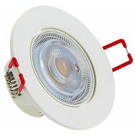 XANLITE - Spot Encastrable LED Intégré - Dimmable par switch - Orientable - cons. 6W (eq. 50W) - 400 lumens - Blanc chaud - SEL345DS