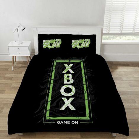 XBOX Game On Duvet Cover Set Black Bedding Double