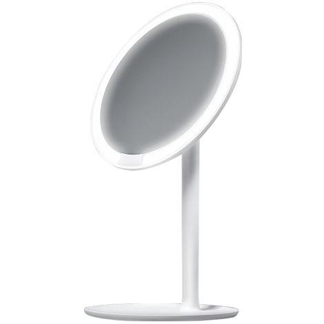 Xiaomi AMIRO HD Daylight Mirror Adjustable Countertop 60 Degree Rotating 2000mAh,White