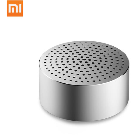 Xiaomi BT altavoz inalambrico portatil inteligente Caja de resonancia Bass altavoces de audio de coches reproductor de manos libres de llamadas Musica Amplificador Mini MP3 Player altavoz recargable, Plata