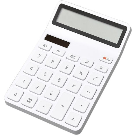 Xiaomi Lemo Calculatrice Calculatrice Portable De Bureau Electronique 12 Ecran Lcd Numerique Arret Automatique Pour Office Finance, Blanc