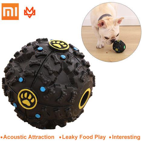 Xiaomi, mascotas automatica Fuga comida para perros Vocal bola, Negro