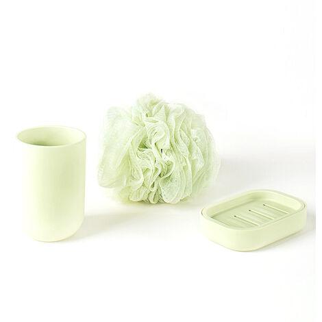 Xiaomi Mijia Ensemble De Lavage 3 En 1 Kit Maille Bain Eponge Savon Boite Brosse A Dents Rince-Boues Brossage Tasse Maison Toilettes