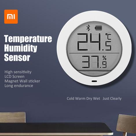 Xiaomi Mijia Inalámbrico Bluetooth Termómetro Higrómetro Pantalla LCD de pared Etiqueta Sensor de humedad para el hogar / cocina 1.78 pulgadas Hasaki