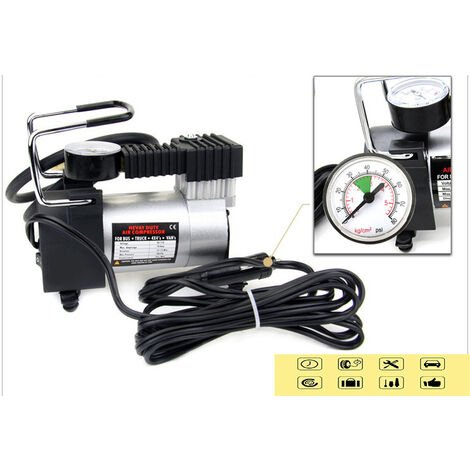 """main image of """"XICHAO - Pompe portative de compresseur d'air, gonfleur de pneu 12V Digital, moto, vélo et autres pneumatiques"""""""