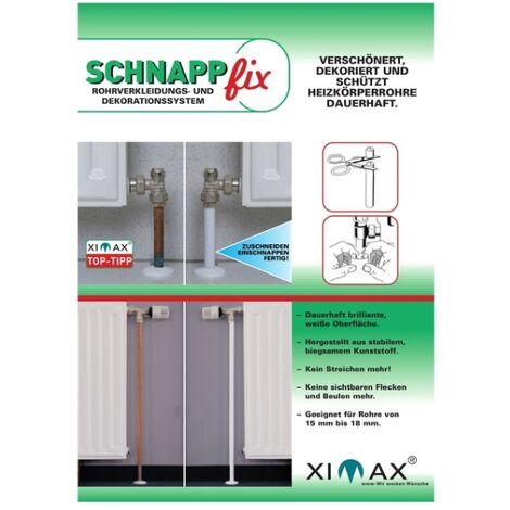 XIMAX Schnappfix Rohrverkleidung, in Weiß 8-Fach