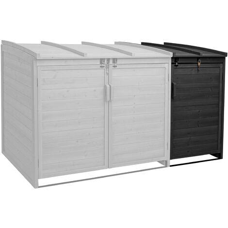 XL 1er-/2er-Mülltonnenverkleidung Erweiterung HHG-019, Mülltonnenbox, 116x66x92cm Holz FSC-zertifiziert