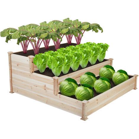 XL Corner Raised Elevated Garden Planter Bed 3 Box Kit Vegetable Flower Outdoor