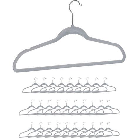 30er Set breite Schulter Relaxdays Anzug Kleiderb/ügel rutschfest schwarz gummiert 30 St/ück aus Metall Kost/üm Jackenb/ügel