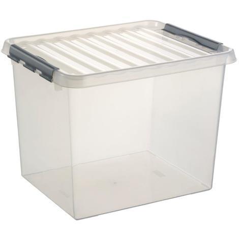 XL Lidded Plastic Storage Box - 52Ltr