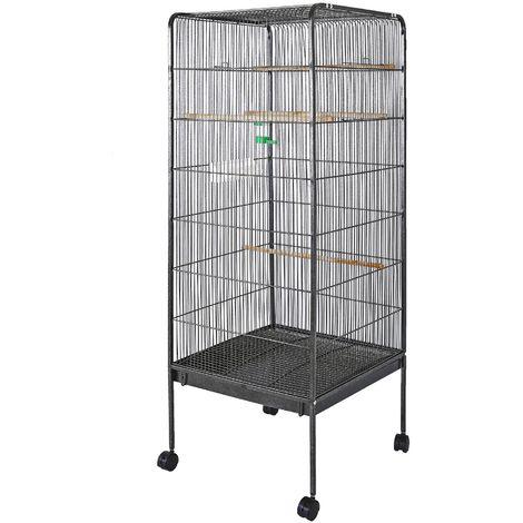 XL Volière Cage à oiseaux pour petits oiseaux 146x54x54cm Canaries Perruches Habitat