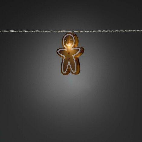 Xmas Decoration Indoor 8 LEDs Novelty Gingerbread BOY Style string Lights