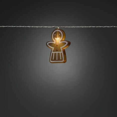Xmas Decoration Indoor 8 LEDs Novelty Gingerbread Girl Style string Lights