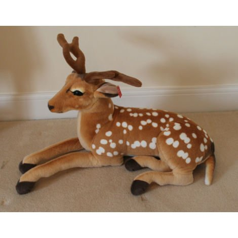 Xmas Decoration Toy 85cms Extra Large Christmas Cuddly lying down Fawn Reindeer