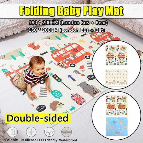 XPE Floor Baby Folding Play Mat Mat Activities Games Toys Waterproof Anti-slip (Type B (180x200cm))