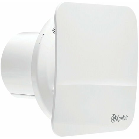 """Xpelair C4HTSR 7W 4"""" 100mm Bathroom Extractor Fan Combined With Square - Round Baffle-Front With Humidistat And Timer - 078360"""