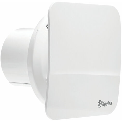 """Xpelair C4PSR 7W 4"""" 100mm Bathroom Extractor Fan Combined With Square Round Baffle Front With Pullcord - 078353"""