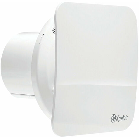 """Xpelair C4SR 7W 4""""/100mm Bathroom Extractor Fan Combined With Square / Round Baffle-Front - 078339"""