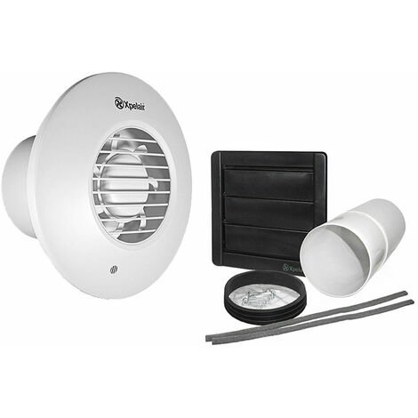 Xpelair DX100HPTR Humidistat Pull Cord Timer Round Extractor Fan with Wall Kit - 93009AW