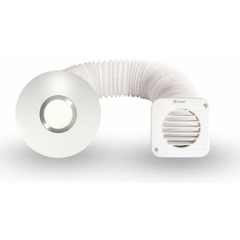 """Xpelair Simply Silent SSISFC 4""""/100mm Illumi Shower Fan Kit - 93087AW"""