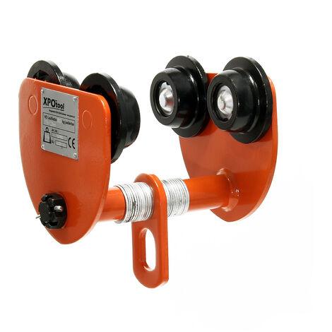 "main image of ""XPOtool HD carrello porta paranco manuale 500kg regolabile 75-125mm"""