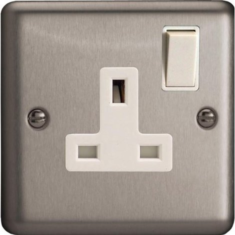 Xs4wclassic Matt Chrome1 Gang 13 Amp Switched Plug