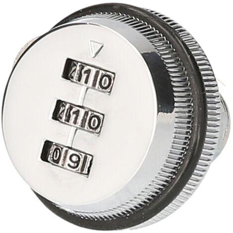 XT20 Serrure acombinaison de tiroir Changement de serrure de casier Serrure acame de boite aux lettres (style court) Argent