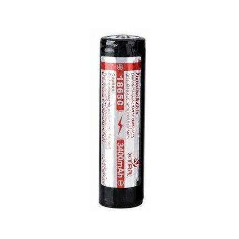 Xtar - accu li-ion cylindrique 3 6 v - 3400 mah - 18650
