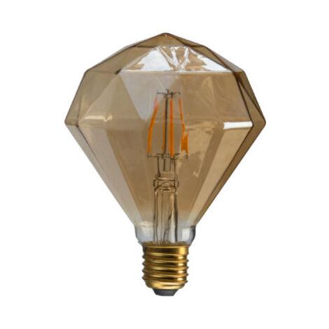 XXCELL LED ámbar Vintage Diamante Bombilla - E27 - 7W