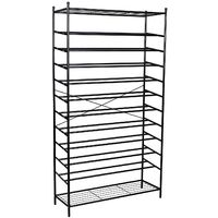 XXL 12 Tier Metal Shoe Rack Storage Organiser Stand Display Racks for about 70 Pairs of Shoes RTG01H