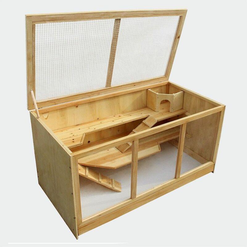 Mercatoxl - MercartoXL XXL Clapier Poulailler pour rongeurs Hamster petite cage de souris cage de rat cage animale 115 x 60 x 58 cm