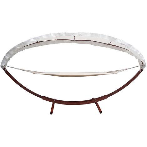 XXL HAMAC avec cadre + toit 400x120cm salon de jardin chaise longue ...