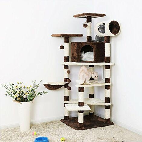 XXL Kratzbaum 165cm Kletterbaum Katzen Spielbaum mit mehreren Ebenen