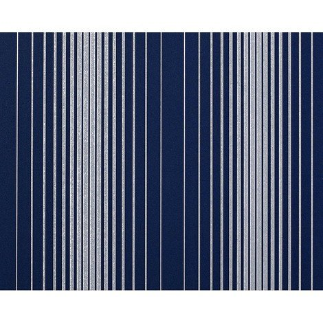 XXL non-woven wallpaper wall stripes EDEM 973-37 luxury textured embossed pattern blue silver-grey 10.65 sqm (114 sq ft)