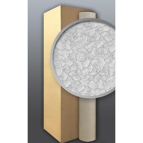 XXL Papier à peindre non-tissé EDEM 80309BR60 blanc relief effet crépis à la spatule 106 m2