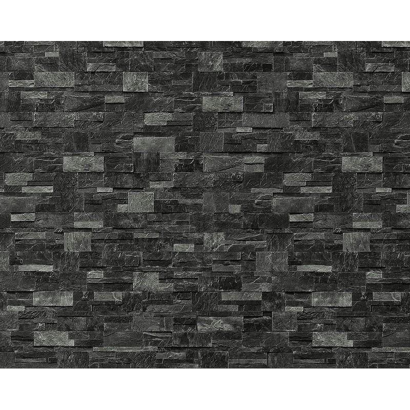 XXL Papier peint EDEM 918-39 intissé mur de pierre naturelle gris ardoise |  10,65 m2