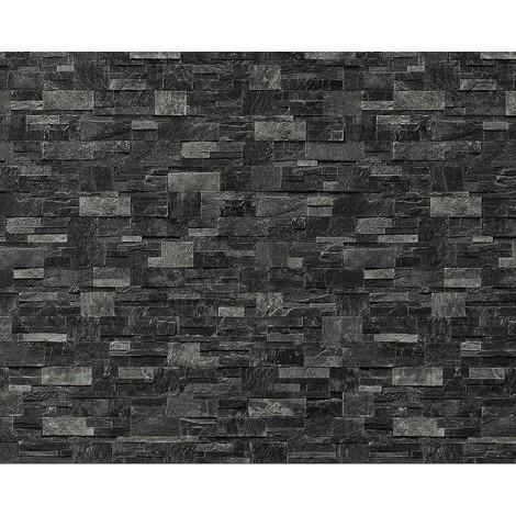 XXL Papier peint EDEM 918-39 intissé mur de pierre naturelle gris ...