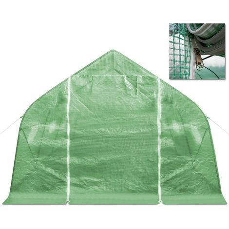 XXL Polytunnel Greenhouse Windows 600 x 300 x 200 cm